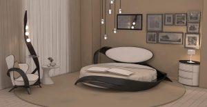 Интерьер круглой кроватью