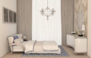 Дизайн проект маленькой спальни