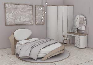 Дизайн проект с круглой кроватью