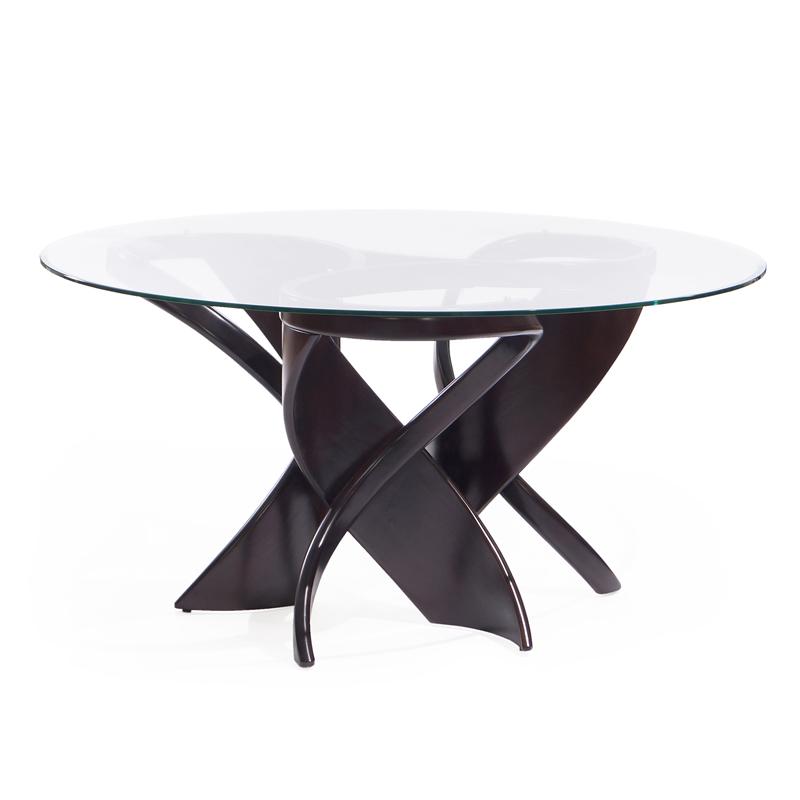 большой круглый обеденный стол