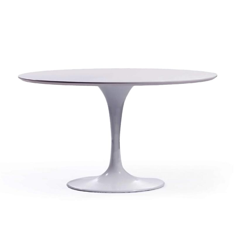 круглый обеденный стол на одной ножке