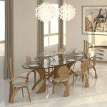стол стеклянный овальный кухонный