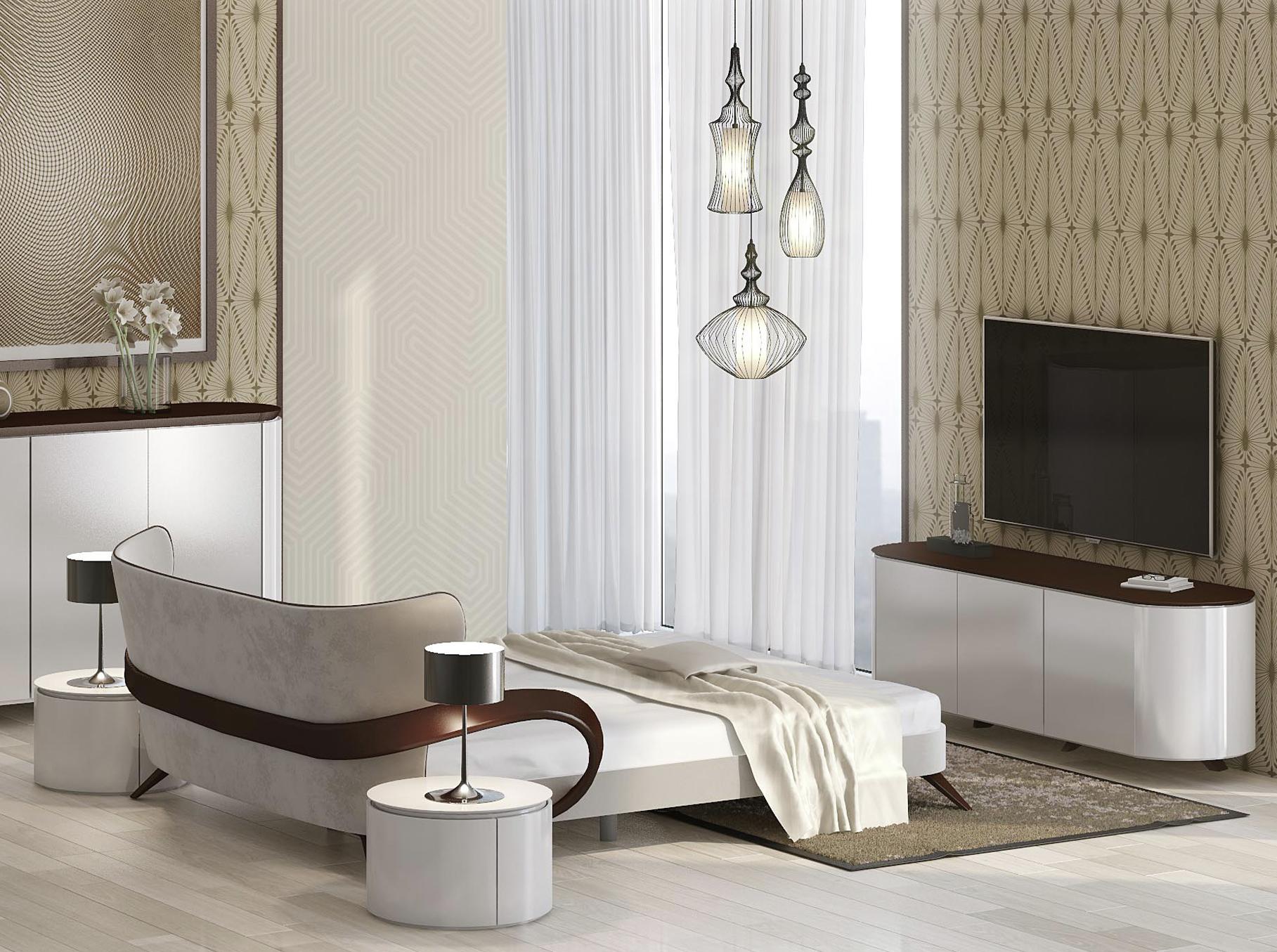 дизайнерские двуспальные кровати