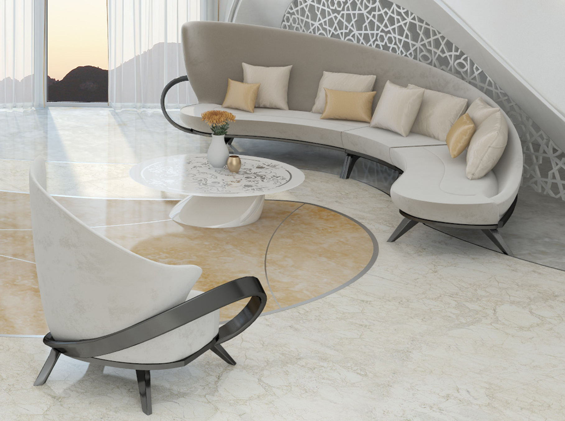 кресло для отдыха с высокой спинкой