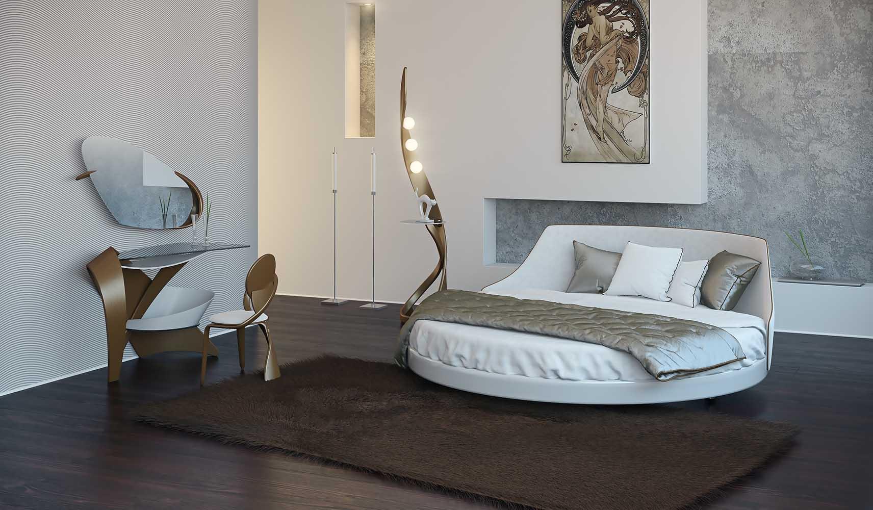круглые кровати фото цены