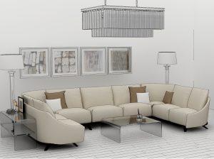 эркерный диван в гостиную