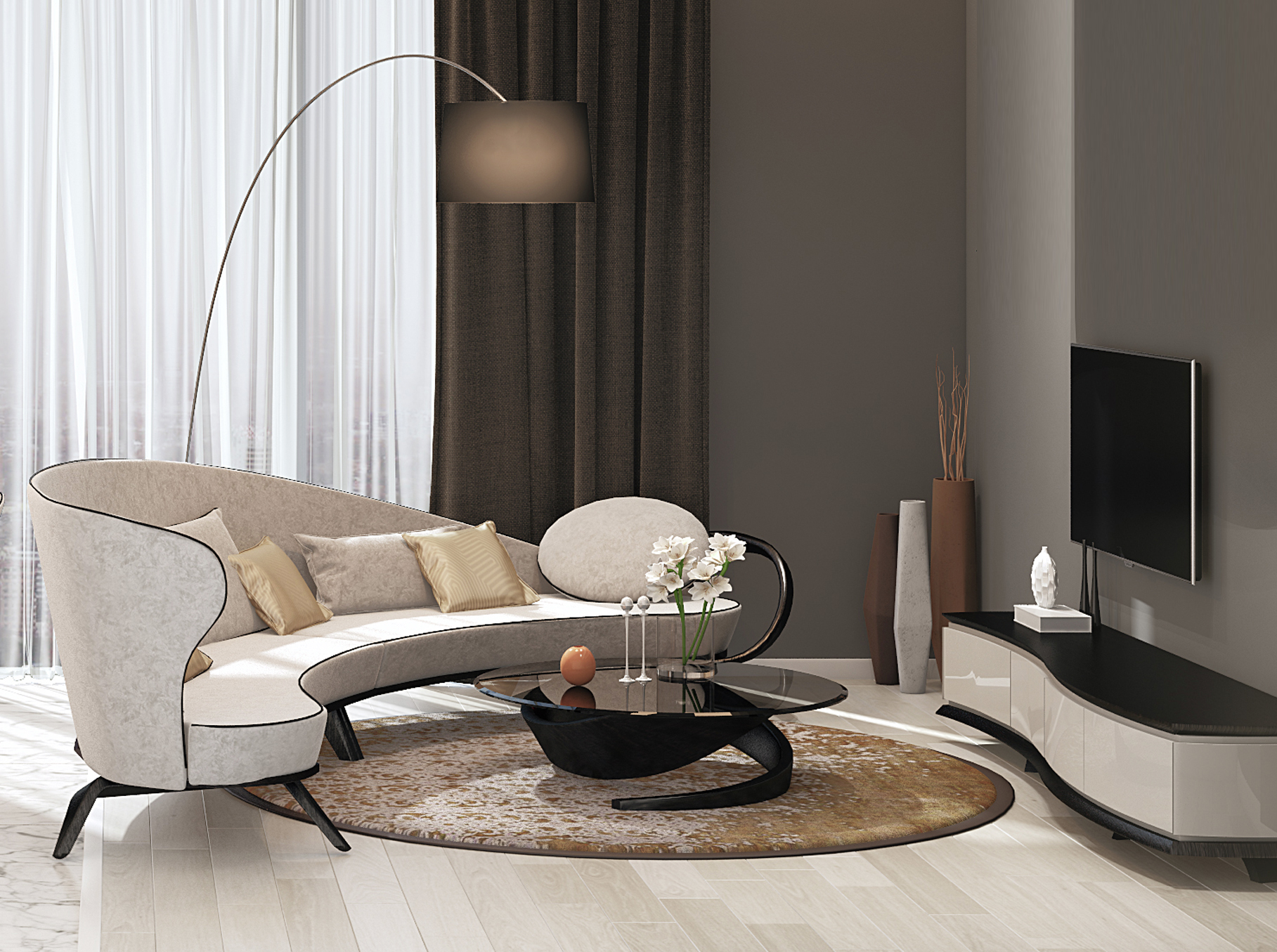 стильный диван для гостиной