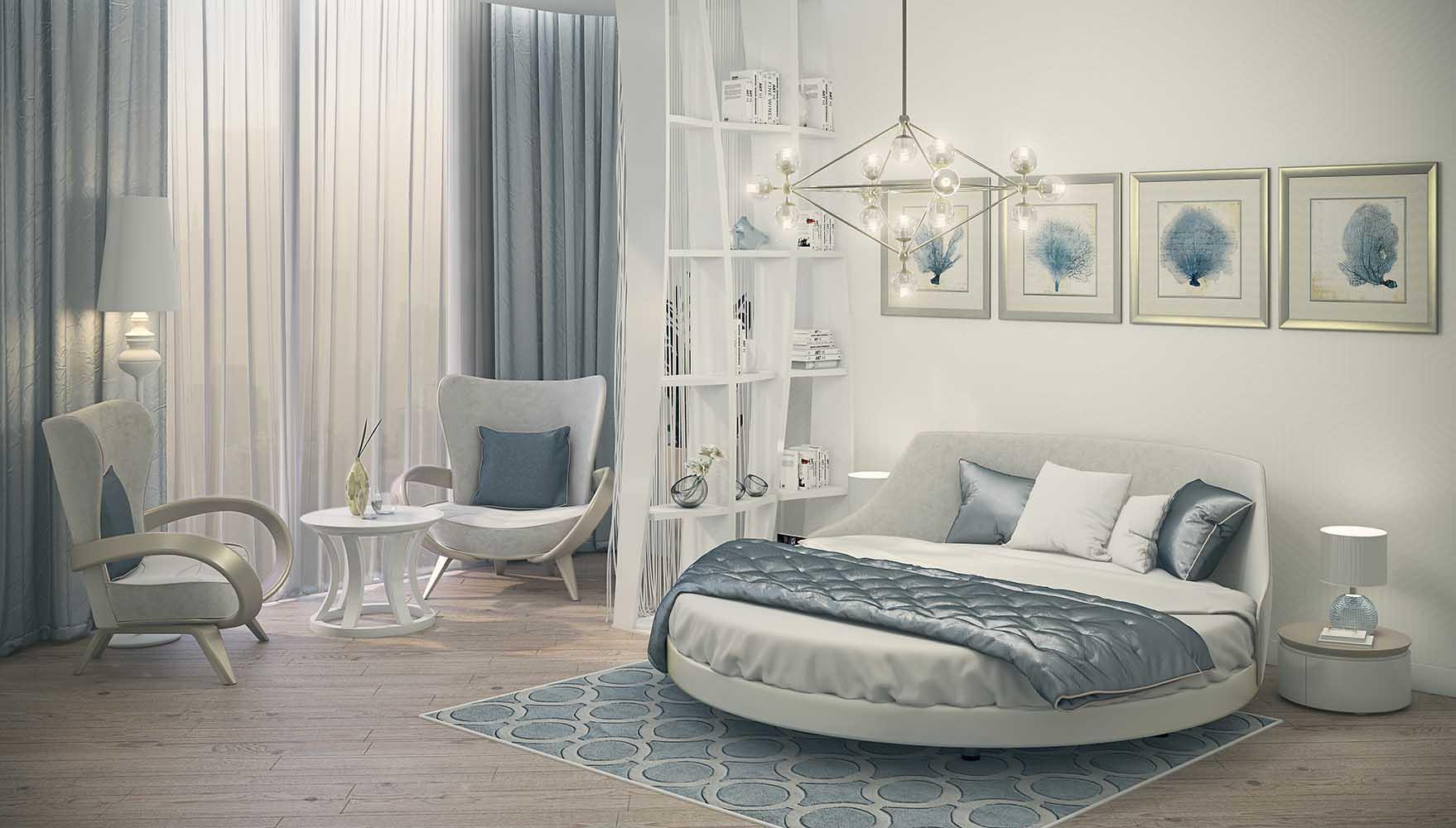 кровать двуспальная круглая купить