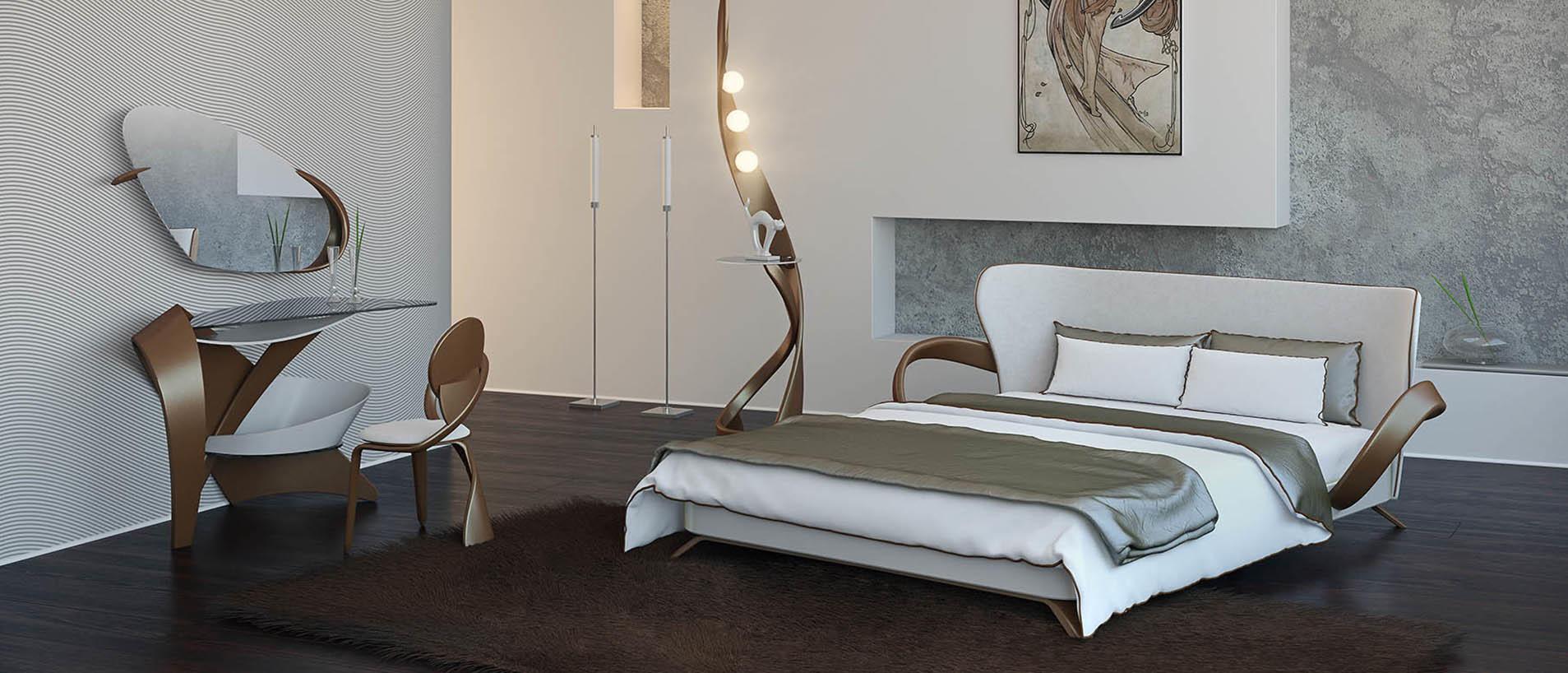 Мебель с деревянными вставками в интерьере