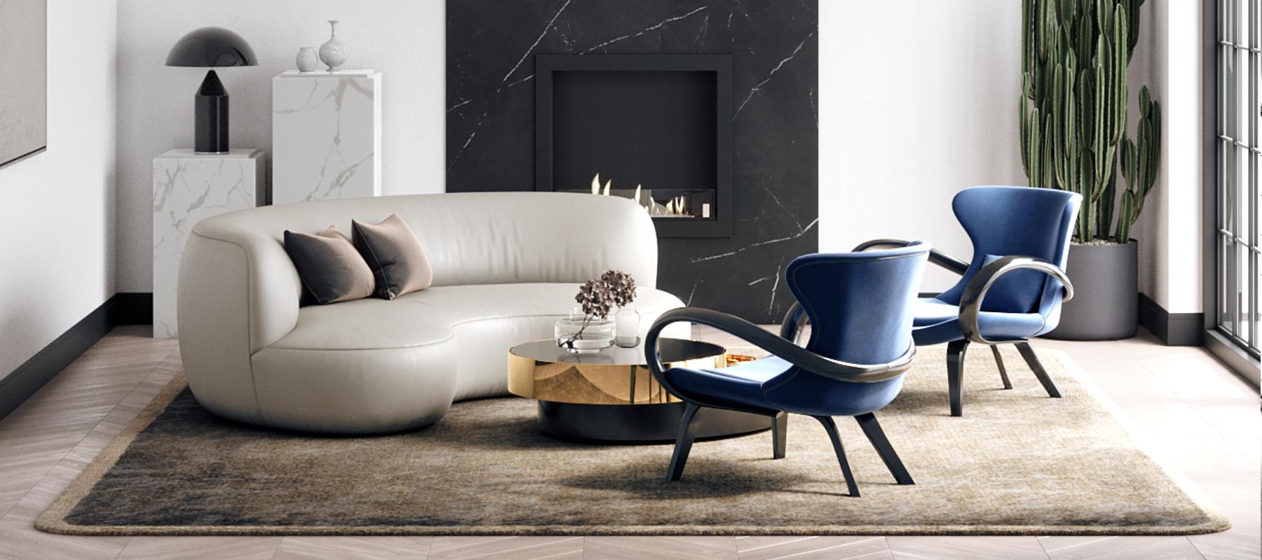 Гостиная с необычной мебелью