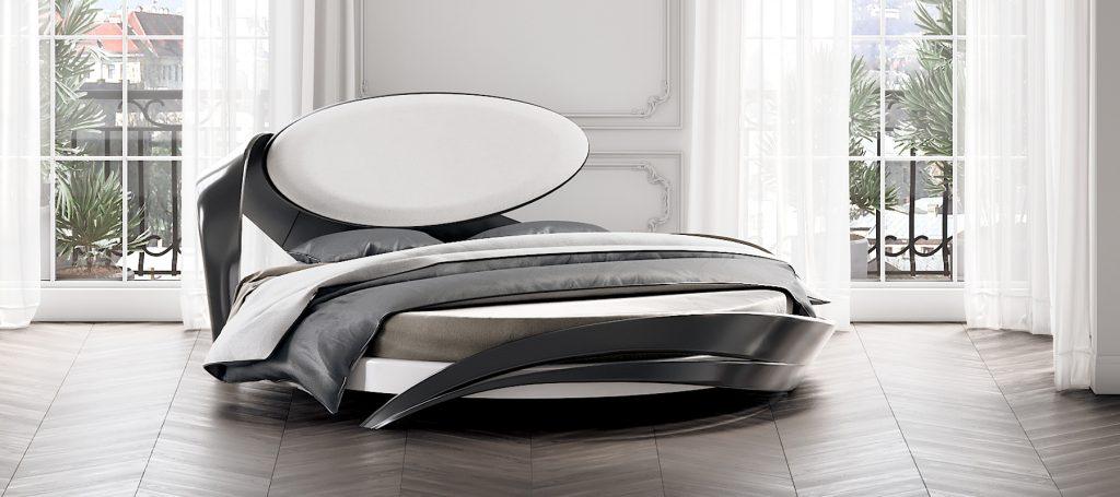 Круглая дизайнерская кровать