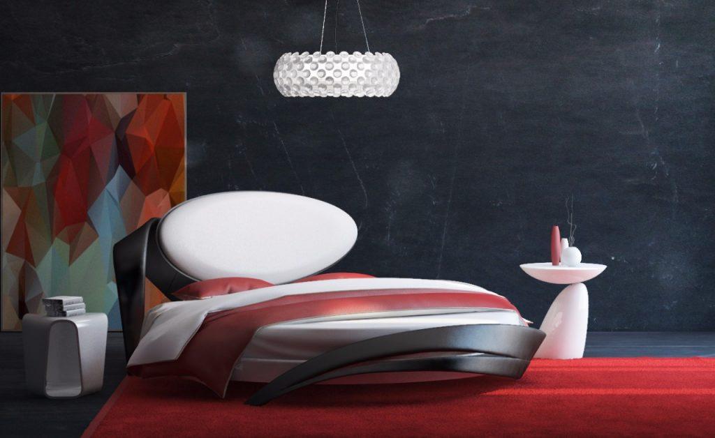 Кровать в спальню в современном стиле