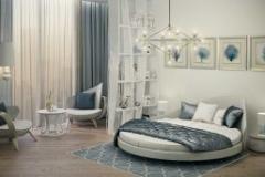 круглая м кровать