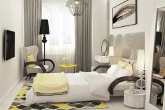 2 кровать апиори S в желтой спальной