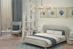 спальня синее кресло - 1