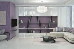 Гостинная с диваном в стиле модерн