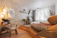 выполненый проект спальни в стиле модер