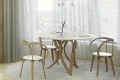 5 стол априори В обеденный в интерьере
